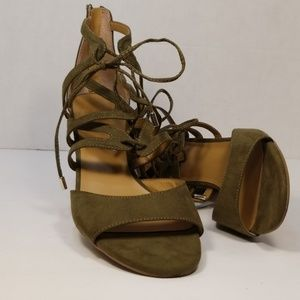 Franco Sarto lace up wedges